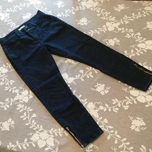 Loft Slim Pocket High Waist Ankle Zip Skinny 28P